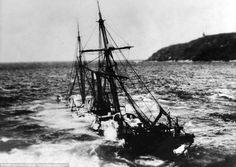 Clear day: The British ship Malta was shipwrecked at Botallack Head, St Just in Penwith, Cornwall, in October 1889. Although the vessel was destroyed, no lives were lost