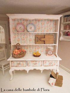 Queen Anne dresser 1/12 dolls house dollhouse by FloraDollhouse, $45.00