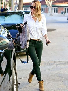 Cute and casual weekend look from Lauren Conrad