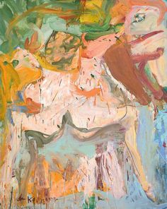 Willem de Kooning, The Visit, 1966/1967, Öl auf Leinwand, 152,4 x 121,9 cm, London, Tate Gallery, Foto: © Tate, London 2012. © Willem de Kooning Foundation, New York | VG Bild-Kunst, Bonn 2012