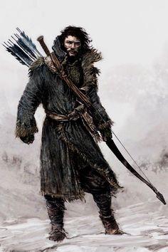 Bard the bowman - The Hobbit - concept art - Desolation of Smaug Fantasy Warrior, Warrior Concept Art, Fantasy Male, High Fantasy, Medieval Fantasy, Tolkien, Fantasy Character Design, Character Concept, Character Art