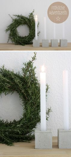 raumdinge: Candlelight and rosemary scent … - Home Page Christmas Advent Wreath, Christmas Mood, Christmas 2017, White Christmas, Christmas Stockings, Christmas Decorations, Advent Wreaths, Diy Crafts For Adults, Advent Candles