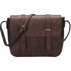 Brown Magnetic Buckle PU Satchel Bag (1.350 RUB) ❤ liked on Polyvore featuring bags, handbags, brown, red shoulder bag, satchel handbags, red satchel, satchel shoulder bag and shoulder bags