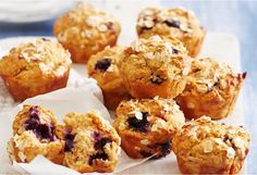 Apple and blueberry cinnamon-spiced muffins with oats are a yummy lunchbox eat or a much appreciate contribution to teatime gatherings