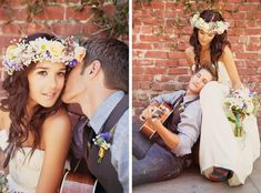 Bride and groom at their bohemian wedding, photos by San Francisco wedding photographer, Tinywater Photography