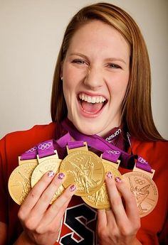 Missy Franklin - Olympic swimmer, she is one of my inspirations!! She is Canadian but swims for the USA.. but she is so talented and is only like 19