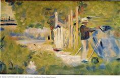 Man Painting his Boat - Georges Seurat