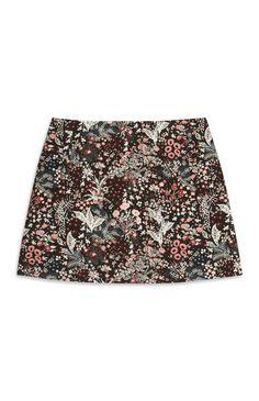6274e5c08e0 Floral Embroidered Mini Skirt