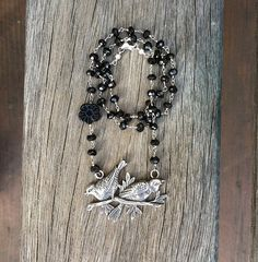 Pair of sparrows sterling silver necklace by AudreySparrow on Etsy, $50.00