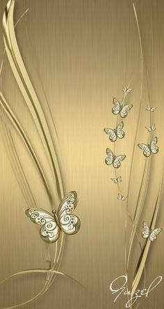 New wallpaper celular unicornio dorado ideas Bling Wallpaper, Flower Phone Wallpaper, Metallic Wallpaper, Heart Wallpaper, Butterfly Wallpaper, Apple Wallpaper, Butterfly Art, Cellphone Wallpaper, New Wallpaper