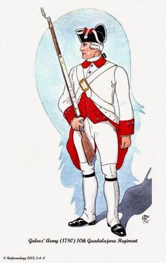Spanish; Galvez' Army, 10th Guadalajara Regiment 1780