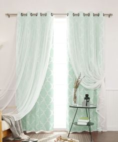 for darkening bedroom p room striped white curtains lively blue