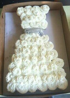 Bridal shower cupcake cake!
