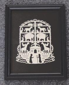 Noah's Ark  Scherenschnitte  Hand Paper by ArtGalleryRiverRd, $59.00