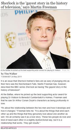 Martin Freeman, the biggest Johnlock fan of all.