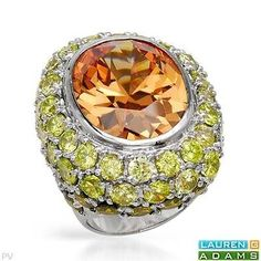 LAUREN G. ADAMS 97.25 CTW Cubic Zirconia Ring size 6 / 44.5g Sterling Silver Rings, Silver Jewelry, Canary Diamond, How To Look Rich, Cubic Zirconia Rings, Semi Precious Gemstones, The Ordinary, Ring Designs, Fashion Rings