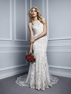 Foto 6 de 9 Stella: Vestido de novia línea sirena confeccionado en encaje color ivory y nude | HISPABODAS