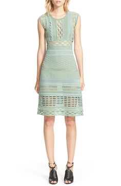 Burberry Prorsum Cotton & Silk Blend Knit Dress available at #Nordstrom