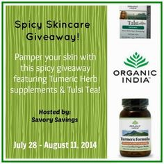 Spicy Skincare Organic India #Giveaway ORGANIC INDIA was formed in the 1990's by a small group of people from different parts of the world who met in Lucknow, a town in northern India, where they had traveled to meet a teacher named Sri H.W.L. Poonja, or Papaji as he was called by many