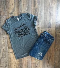 Womens Tshirts | Shirts With Quotes | Printed T Shirts | Womens Graphic Tees | Ladies Shirts | Womens Crewneck Tee | Tennessee Whiskey | by LolaLuVinylDesigns on Etsy