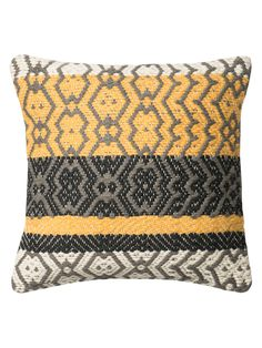 Square Dhurrie Style Pillow on Gilt