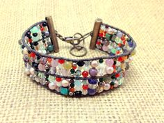 Multicolored Stone Crystal Pearl and Glass by RestlessArtMpls, $25.00