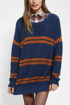 Slouchy, loose-knit BDG Boyfriend Sweater #urbanoutfitters