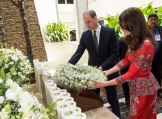 17 Must-See Photos from Kate Middleton and Prince William's Trip to India - At the Taj Hotel - from InStyle.com Inspiration-a new way of thinking about gorgeous Indian fabric (silk?)