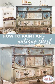 How to Update an Antique Chest - Dixie Belle Paint Company Refurbished Furniture, Paint Furniture, Repurposed Furniture, Shabby Chic Furniture, Furniture Projects, Rustic Furniture, Furniture Makeover, Antique Furniture, Furniture Design
