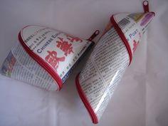 Spiralmäppchen (592) Chinesische Zeitung von AnnKara's Queerbeet-Shop auf DaWanda.com