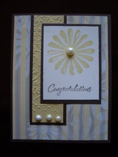 Handmade Stampin Up Congratulations Card by SillyDawgDesigns, $3.00