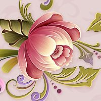 Moonbeam's Pink Passion - a pink-hued package - is exclusively designed inspired by the art of one-stroke brush painting. Gouache Painting, Tole Painting, Fabric Painting, Geometric Coloring Pages, Norwegian Rosemaling, Art Nouveau Tiles, Dyi Crafts, Decoupage Paper, Flower Art