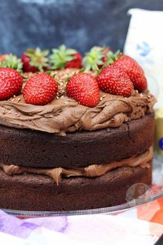 A Two Layer Gluten Free and Dairy Free Chocolate Cake for everyone to enjoy! Fudgey, Chocolatey, and DELICIOUS. So recently I decided to try a. Lactose Free Desserts, Thermomix Desserts, Gluten Free Cakes, Gluten Free Baking, Dairy Free Recipes, Just Desserts, Paleo Baking, Gf Recipes, Cupcake Recipes