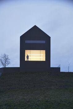 """The Black Barn by Arhitektura d.o.o. """"Location: 8232 Šentrupert, Slovenia"""" 2014"""