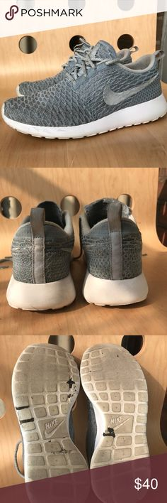 d1934168bdeb NIKE Flyknit Roshe Run Cool Grey Used Condition  worn a couple of times  There is