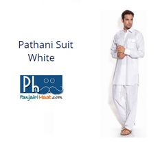 Buy White Cotton Pathani Suit with double pocket and loops on the shoulder. Please visit - http://panjabihaat.com/gents-clothing/pathani-suit-online?product_id=817  #PathaniSuit #MensPathaniSuit #Shopping #Punjabi #Sikh