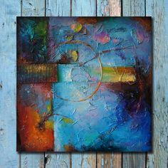 Art contemporain de Stanislav Lazarov Commentaires: https://www.etsy.com/shop/StanislavLazarovArt?ref=l2-shopheader-name#reviews Titre: Harmonie de bleu ------------------------------------------------------------ Pour voir plus de mes peintures unique s'il vous plaît visitez