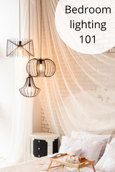 A bedroom should be a place of tranquility, rest and calm as a reward for our busy lives; and as such, when choosing lighting, attention should be given, in equal parts, to functionality, relaxation and aesthetics.  Hall's Lights' lighting and décor expert Kim Smith gives us the low-down on her 'bedroom lighting 101' guide to help us make the right lighting decisions. House Lighting, Bedroom Lighting, Diy Store, Rest, Aesthetics, Chandelier, Diy Projects, Ceiling Lights, Inspiration