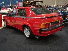 Alfa Romeo 75 1.8 Turbo. I love the 75, I have a 3.0 V6 as my daily driver.