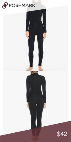 American Apparel Cotton Spandex Turtleneck Catsuit BLACK. SMALL. WORN ONCE. NO HOLES NO DEFECTS. OPEN TO OFFERS! SOLD OUT IN STORES. American Apparel Other