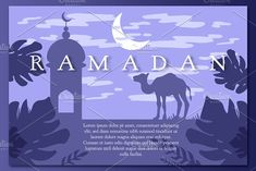 Ramadan Landscape With Mosque by barsrsind on @creativemarket