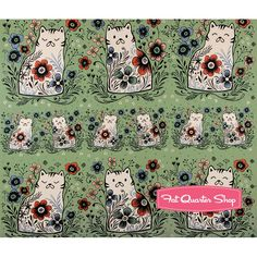 Canvas From Porto With Love Mint Pennie Yardage SKU# 2039-22 | Fat Quarter Shop