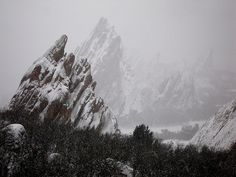 Roxborough State Park wrapped in winter's quiet.