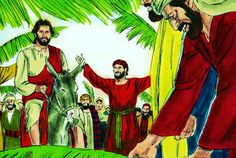 Holy Week Timeline † † † Day 1: Palm Sunday's Triumphal Entry                    Beginning with Palm Sunday, we'll walk the steps of Jesus Christ this Holy Week, visiting each of the major events that occurred during our Savior's week of passion.  On the Sunday before his death, Jesus began his trip to Jerusalem, knowing that soon he would lay down his life for the sins of the world.