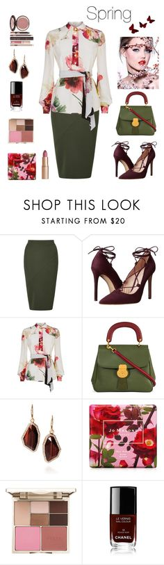 """Spring!"" by mayrae-sanchez on Polyvore featuring Miss Selfridge, Massimo Matteo, Lanvin, Burberry, Chloe + Isabel, Jo Malone, Stila, Chanel, Charlotte Tilbury and flowerblouse"