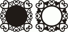 Silhouette Design Store - View Design #74366: hearts background and frame
