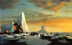 Whalers Trapped by Arctic Ice William Bradford - circa 1870-1879