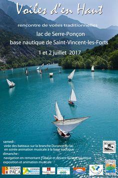 Voiles d'en Haut - Rencontre de voiles traditionnelles le 1 & 2 juillet 2017 - Lac de Serre-Ponçon - St Vincent les Forts - Alpes de haute Provence - PACA - France