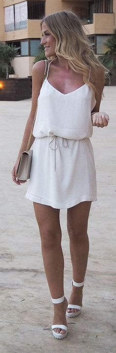White Simple Little Dress                                                                             Source