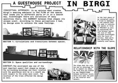 presentation board birgi guesthouse project conceptual approaches